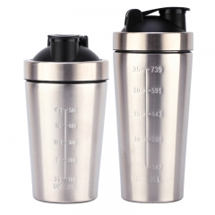 500/750ML Stainless Steel Shaker Bottle with Handle