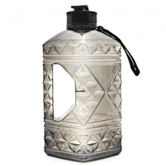 2.2L Gym Fitness Water Jug with Diamond Shape for Training