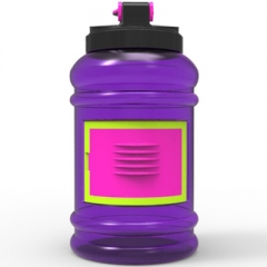 2.2L Gym Fitness Water Jug with Card Holder for Training