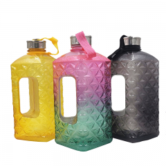2.2L Gym Fitness Water Jug with Diamond Shape for Bodybuilding