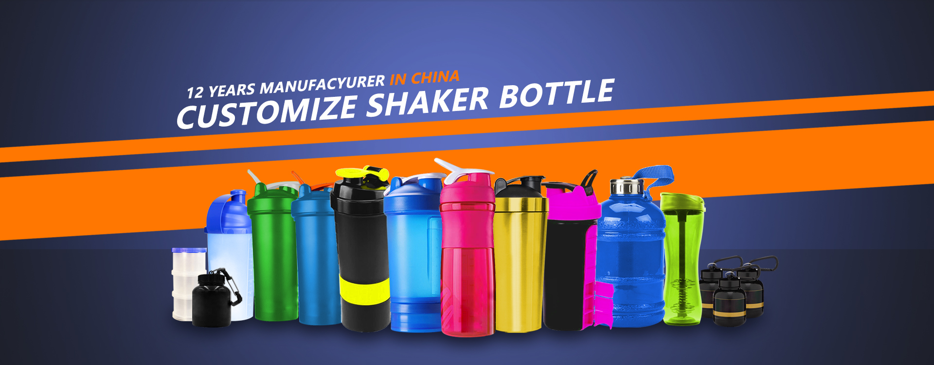 Custom Protein Shaker Bottle with Storage Promoshakers
