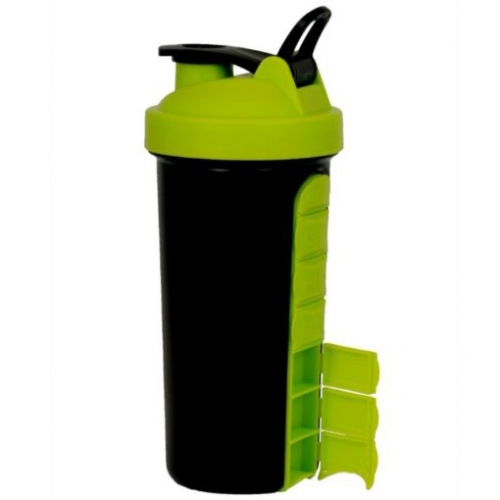 700ml Plastic Protein Shaker Bottle with Handle with 7 Days Pillbox