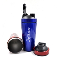 750ML Blue Stainless Steel Protein Shaker Bottle For Sports Nutrition