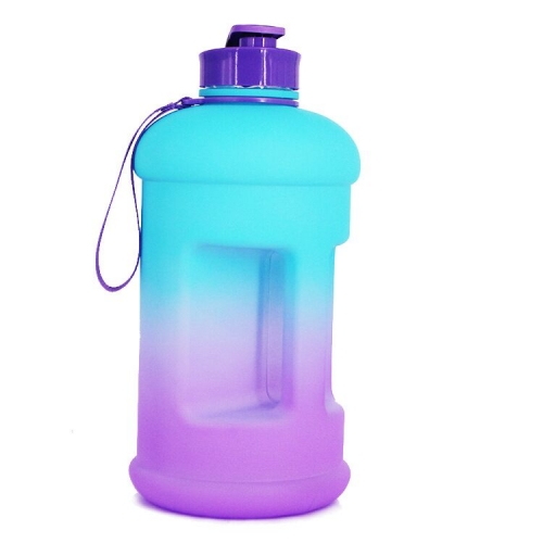 1.3L Gradient Plastic Drinking Water Bottle Jug for Fitness